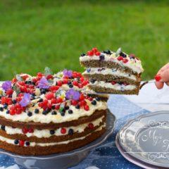 MAKOVÁ TORTA S KRÉMOM Z BIELEJ ČOKOLÁDY A MASCARPONE