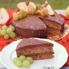 JESENNÁ TORTA S PARÍŽSKOU ŠĽAHAČKOU A SLANÝM KARAMELOM (bez múky)