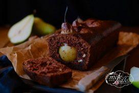 Čokoládový chlebík s hruškami