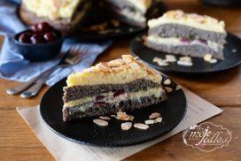 Maková torta s vanilkovým krémom