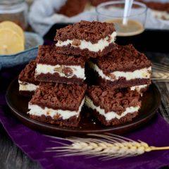 Strúhaný tvarohový koláč