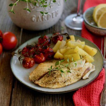 Ryba na letnej zelenine